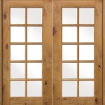 : Knotty alder interior French doors are esthetic and classy