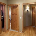 : Knotty alder interior wood doors have a natural appearance
