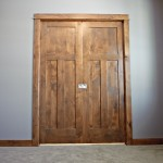: Knotty alder prehung interior doors are easy to install