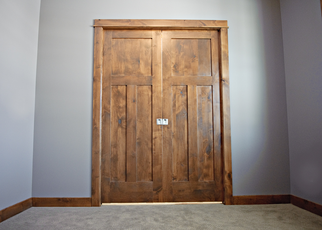 Knotty Alder Prehung Interior Doors Are Easy To Install