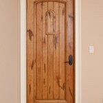 Knotty alder solid wood interior doors are massive and strong