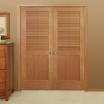 : Louvered interior double doors are good for living rooms