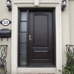 : Metal entry doors with sidelights fit in any house exterior