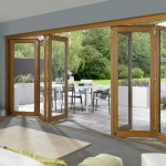 : Oak folding patio doors UK look noble and expensive