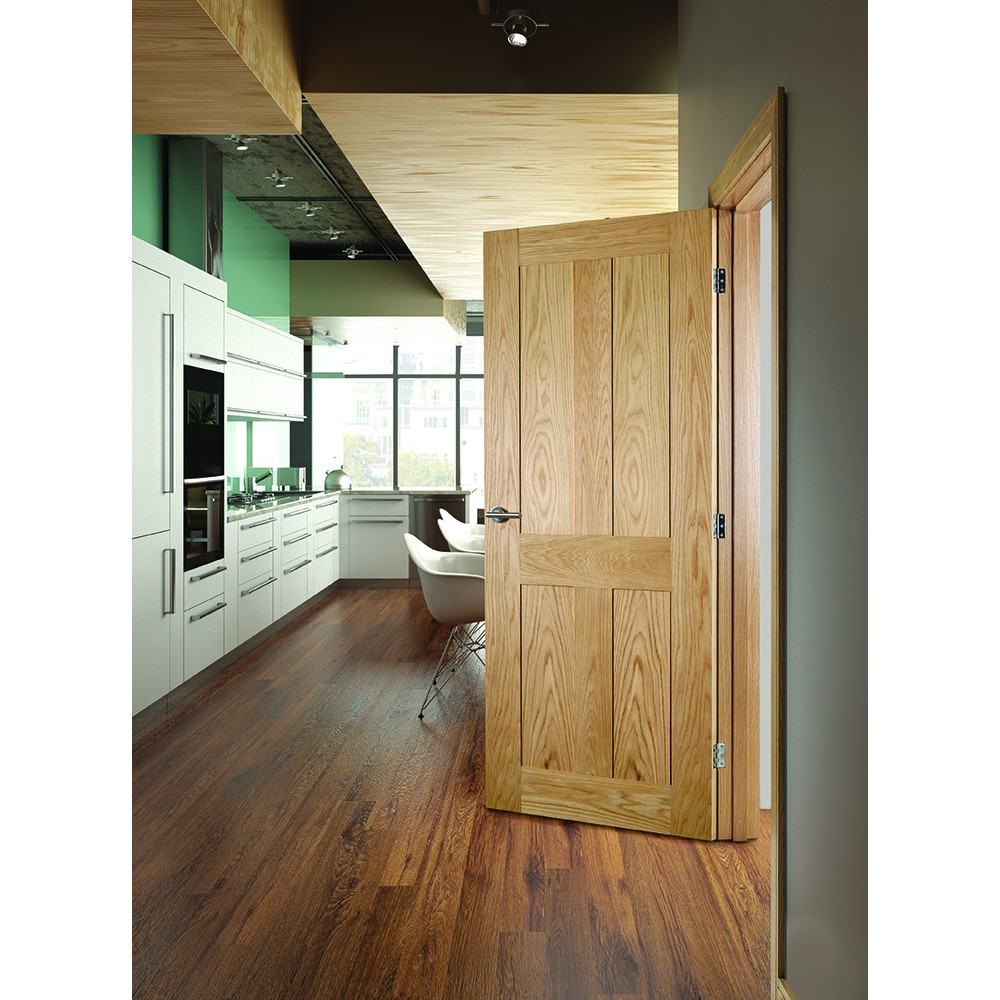 Oak shaker style internal doors look rich