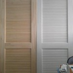 : Pine louvered interior doors have pleasant color