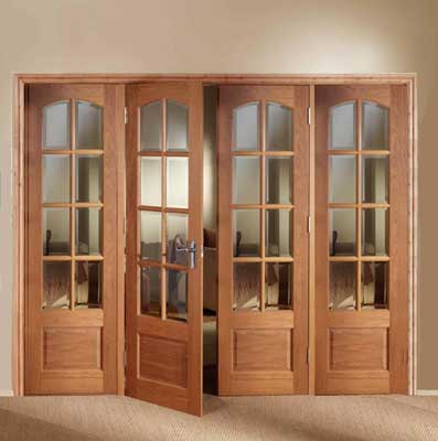 Prefinished interior French doors have stylish design
