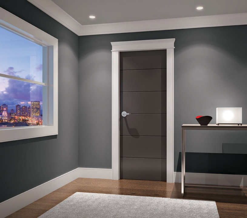 Prefinished interior doors and trim are easy to install