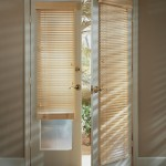 : Prehung exterior door with blinds will cover up glass inserts