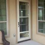 : Prehung exterior door with storm door increases the safety