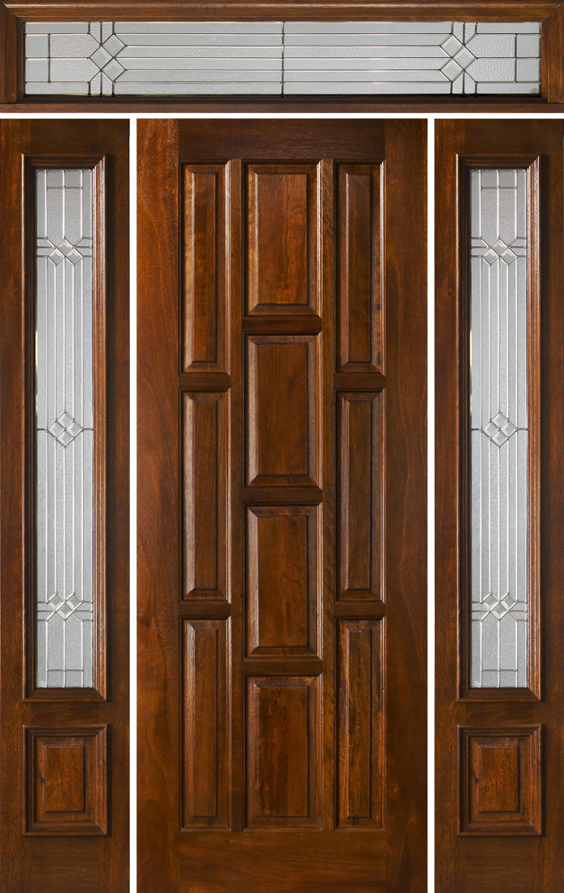 Prehung exterior door with transom are convenient