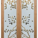 : Prehung exterior door with window is likely to have glass insert