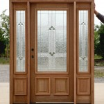 : Prehung exterior doors with sidelights and transom are a modern solution