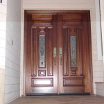 : Prehung exterior timber doors are durable and quality