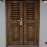 Prehung louvered interior doors can be easily installed