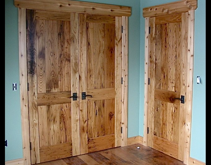 Reclaimed solid wood interior doors sometimes may look better than original models