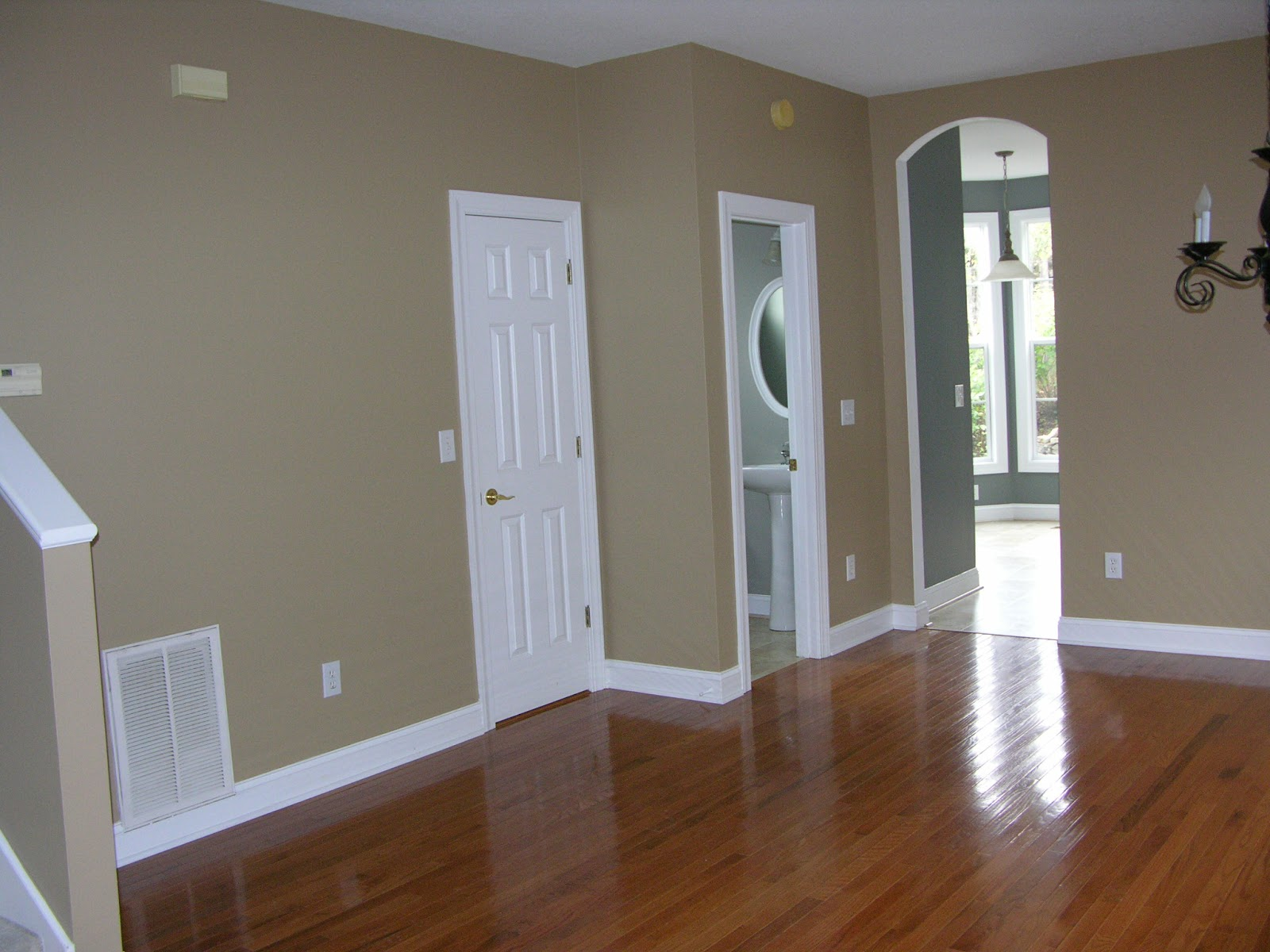 Refinished interior doors may have white color scheme
