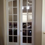 : Replacement of interior French doors creates elegant interior