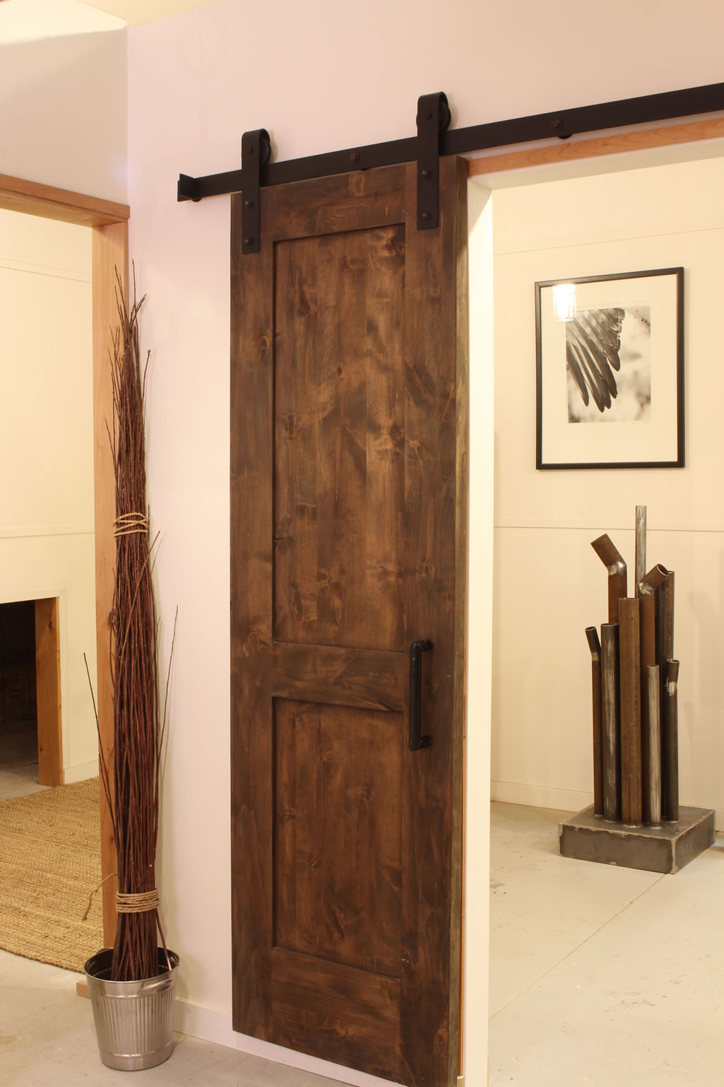 Replacement of interior door hardware change the rooms style