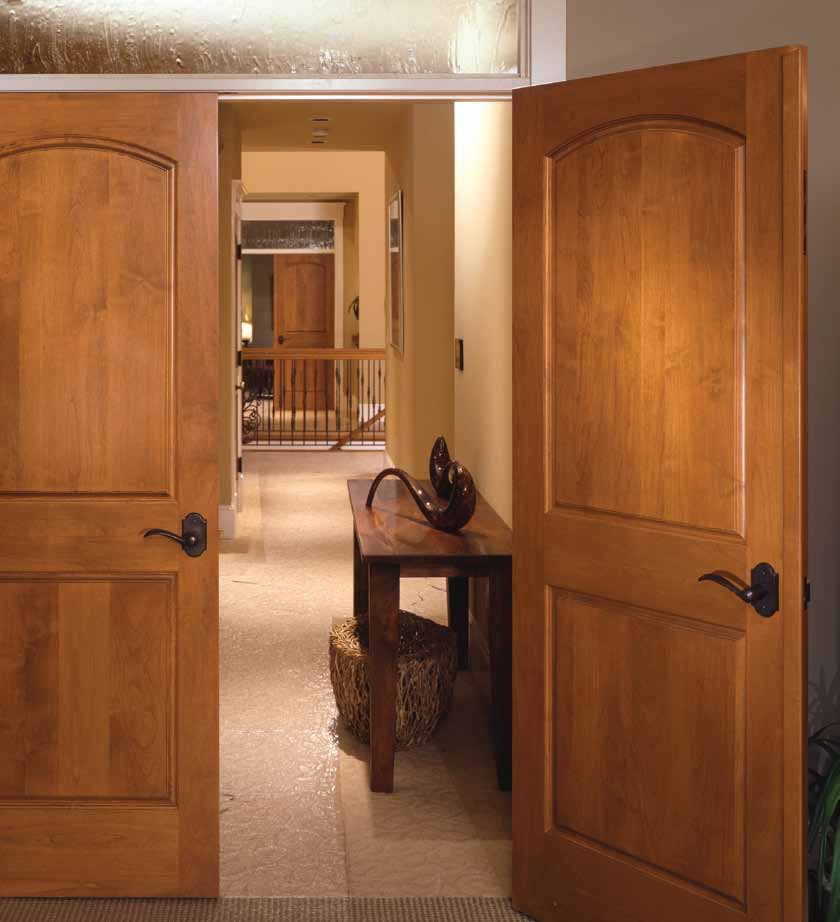 Replacement of interior wood doors is made with special tools