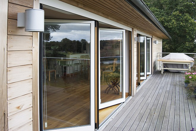 Residential folding exterior doors are often chosen for stylish households