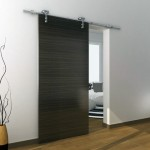 : Residential interior barn door hardware is metal