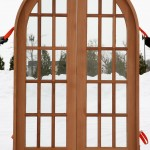 : Round top interior doors for sale may be chosen for a lovely rural house