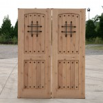: Rustic interior doors for sale are made of real hardwood and may be left unfinished