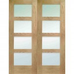 Shaker interior doors with glass are good for countryside