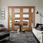 : Shaker style bifold interior doors are great for living room