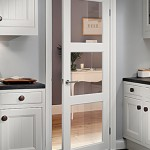 : Shaker style interior French doors are in fashion