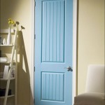 Shaker style interior doors and trim is similar to mission style