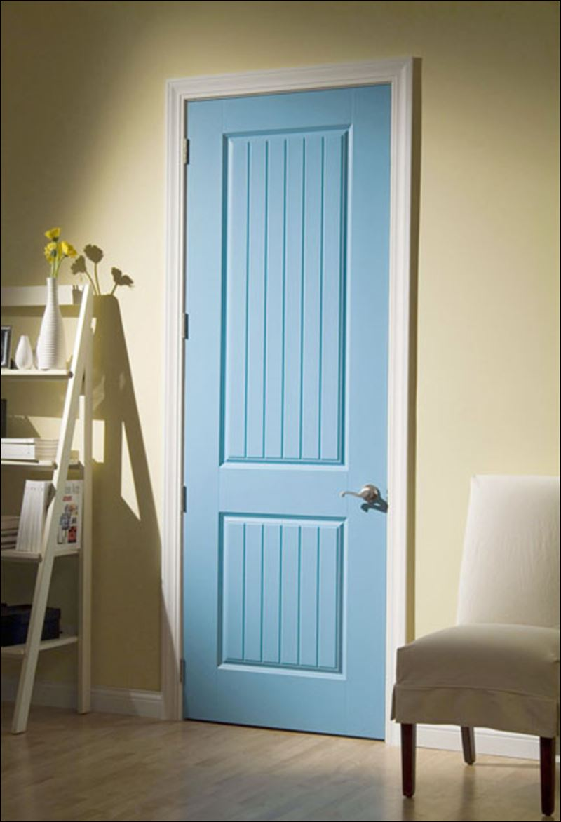 Two Panel Shaker Style Interior Doors Are Universal Interior