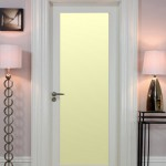 : Shaker style interior glass doors are modern