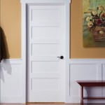 : Shaker style interior wood doors have panels and edges