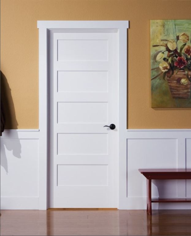 Shaker Style Interior Wood Doors Have Panels And Edges