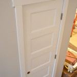 : Shaker style one panel interior doors are always appropriate
