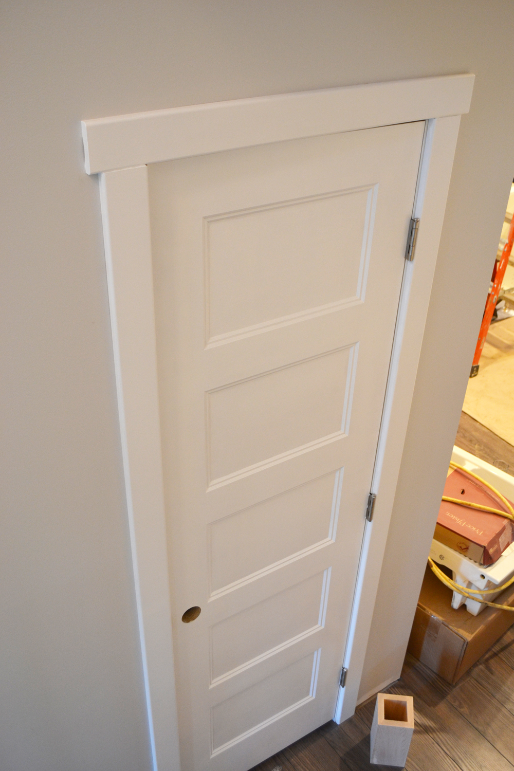 Shaker style one panel interior doors are always appropriate