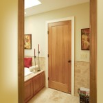 : Single flat panel interior doors is a stylish inexpensive choice for your bedroom