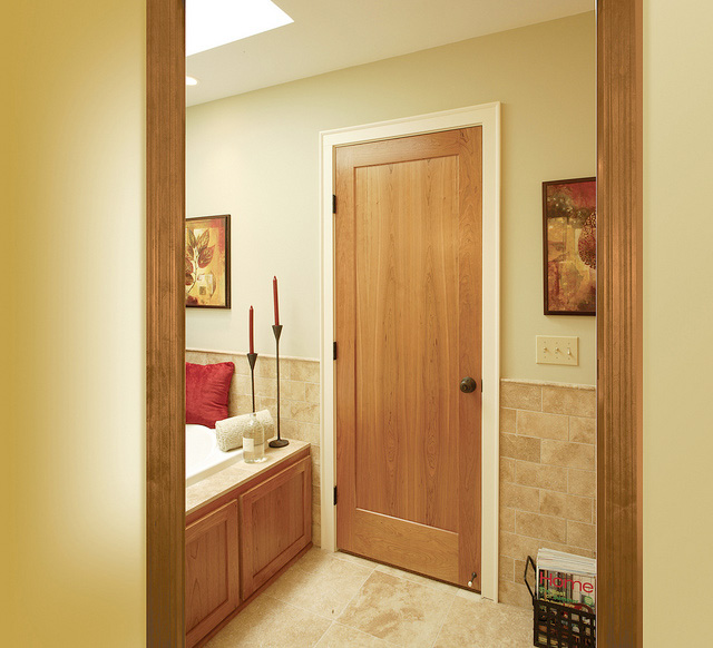 Single flat panel interior doors is a stylish inexpensive choice for your bedroom