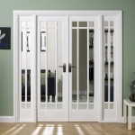 : Solid interior doors with glass look so elegant and beautiful