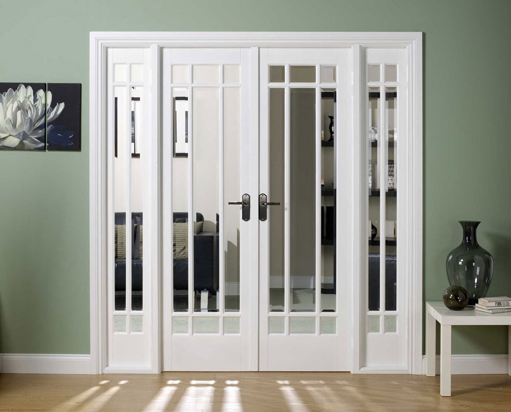 Solid interior doors with glass look so elegant and beautiful