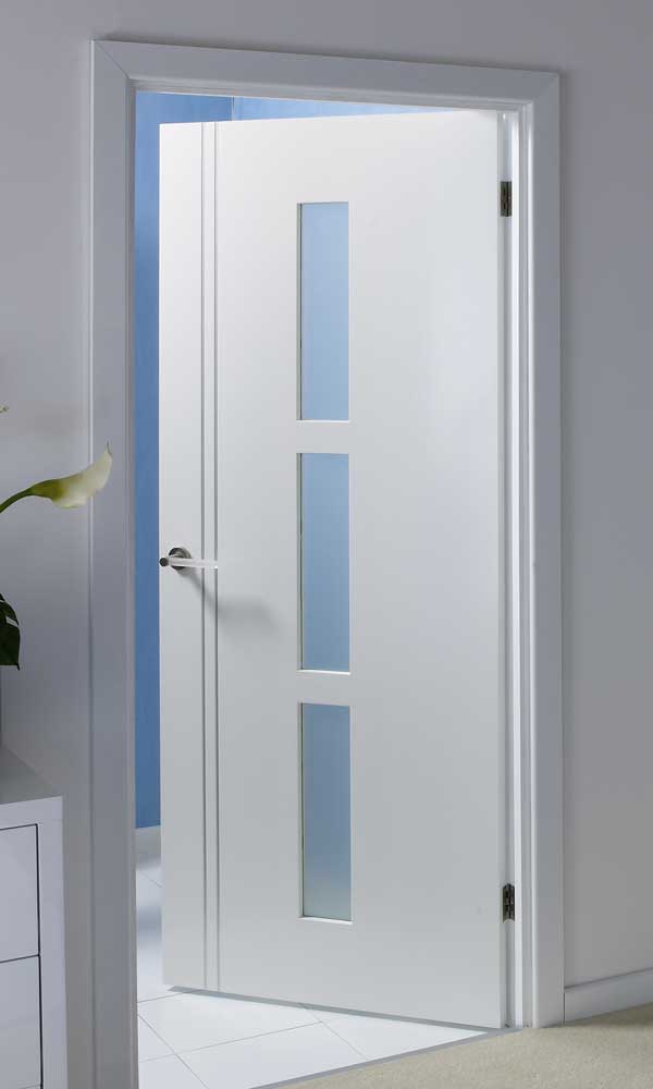 Solid internal doors with glass can be suitable for any interior