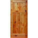 : Solid knotty alder interior doors are sound proof and durable