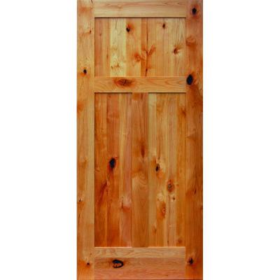 Solid knotty alder interior doors are sound proof and durable