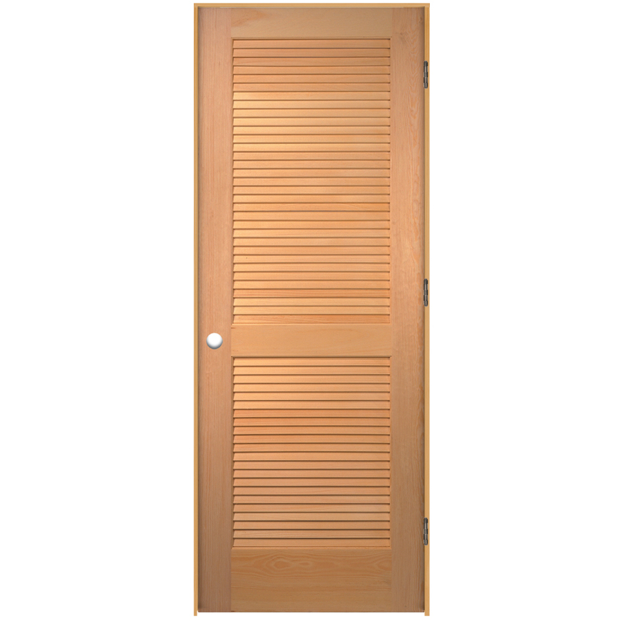 Solid louvered interior doors are strong