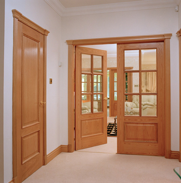 Solid red oak interior doors belong to exquisite articles of interior