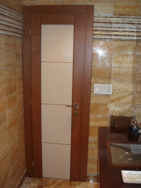 Solid teak interior doors are preferred by many customers
