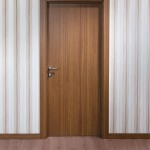 : Solid timber interior doors show all the beauty of natural material