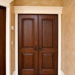 Solid wood door trim may be chosen by customers according with their tastes